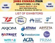 Brantford Job Fair– March 5th,  2019